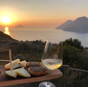 SailSterling Wine and Catamaran Club Sunset Wine Tasting Lipari