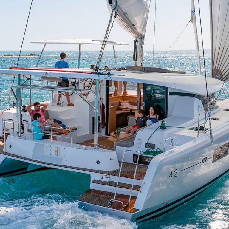 Lagoon 42 SailSterling Luxury Wine and Catamaran Tour