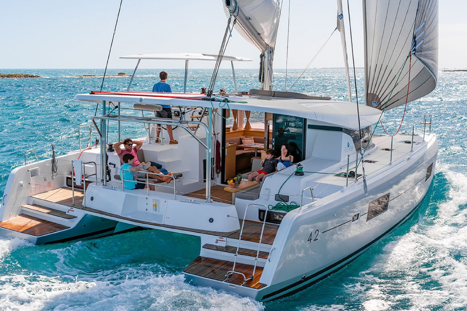 Lagoon 42 SailSterling Luxury Wine and Catamaran Tour