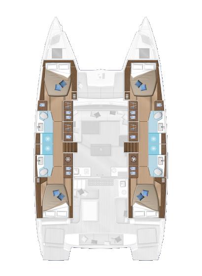 Wine and Catamaran Club, Lagoon 50 Layout