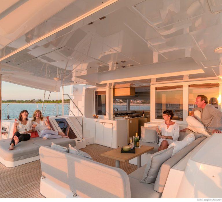 Wine and Catamaran Club, Lagoon 52 Outdoor Area