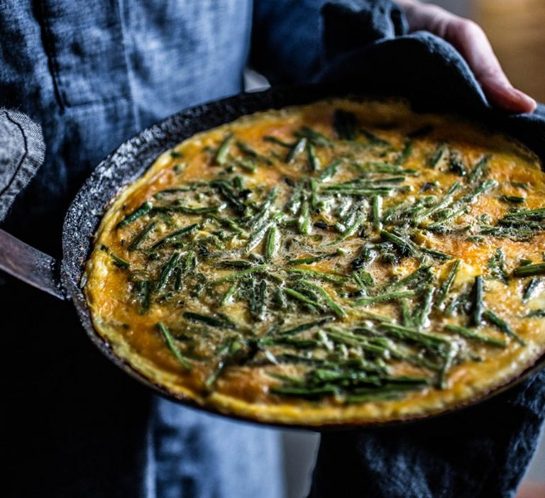 On your next yacht charter in Croatia, try an omelette with wild asparagus!